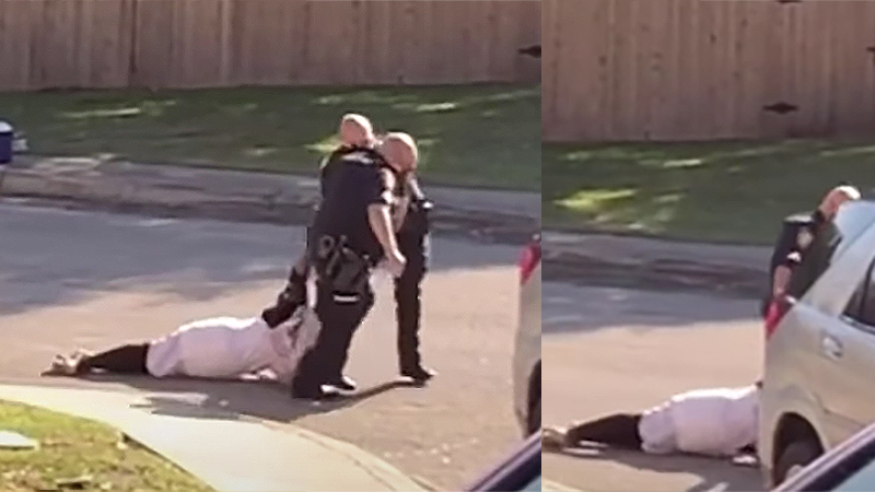 Video catches Texas cops dragging screaming Black man across the road