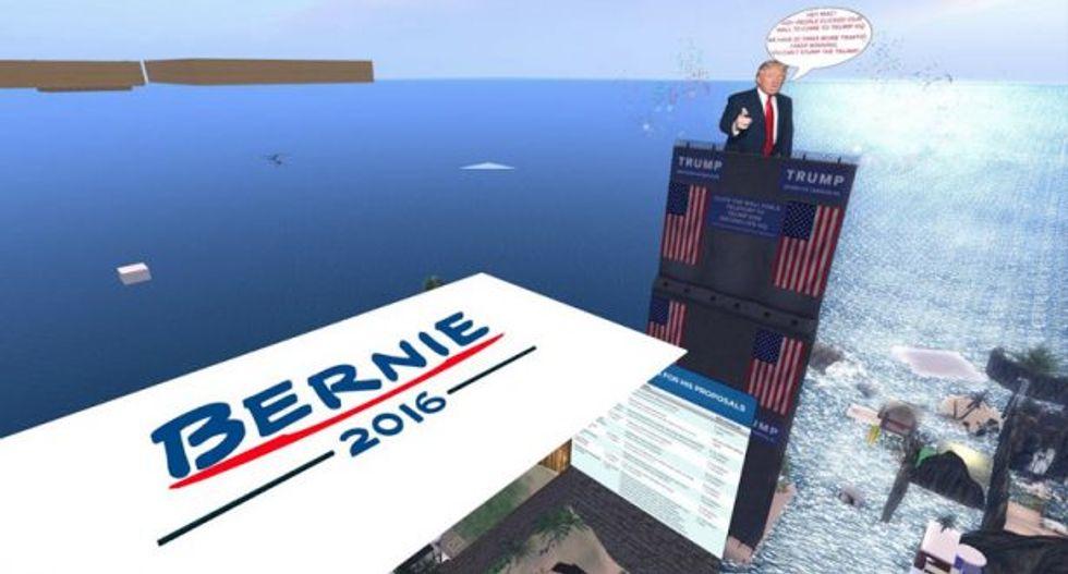 Screenshot taken from Second Life Newser, http://slnewser.blogspot.com/2016/04/political-feud-between-new-trump-and.html