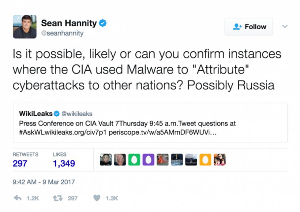 Sean hannity tweet