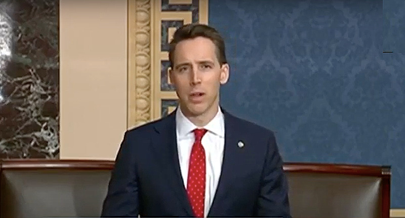 Hallmark demands Josh Hawley return $3,000 in donations after failed Capitol Hill coup