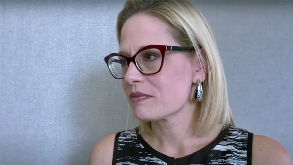 Kyrsten Sinema's former aide now top lobbyist for bank opposing corporate tax hike