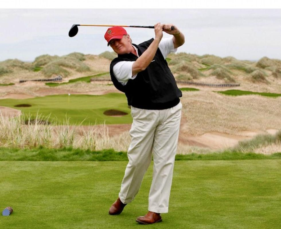 Trump busted for sticking taxpayers with $2.4 million tab for his visits to his Bedminster golf course