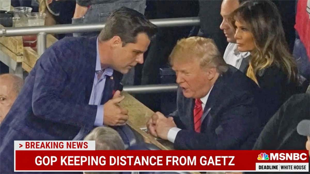 Trump defends Matt Gaetz the same way he's defended many others