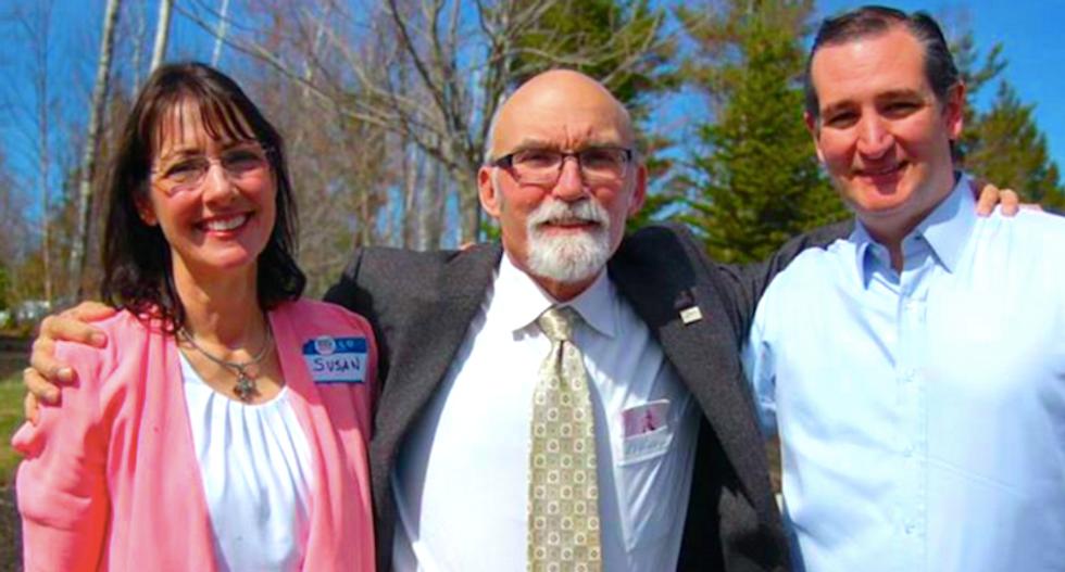 Susan DeLemus, Jerry DeLemus and Ted Cruz (Facebook)