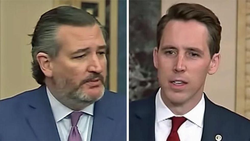 Here's how GOP 'show ponies' Ted Cruz and Josh Hawley are 'decapitating' Biden's national security