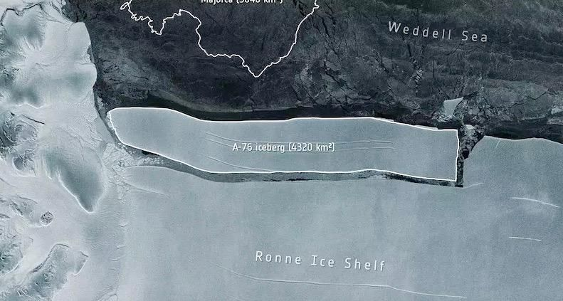World's largest iceberg breaks off from ice shelf in Antarctica