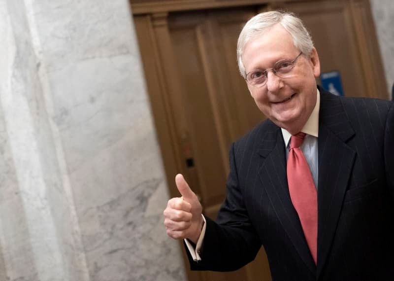 There are enough votes in the Senate to remove Trump from office -- but only if McConnell agrees