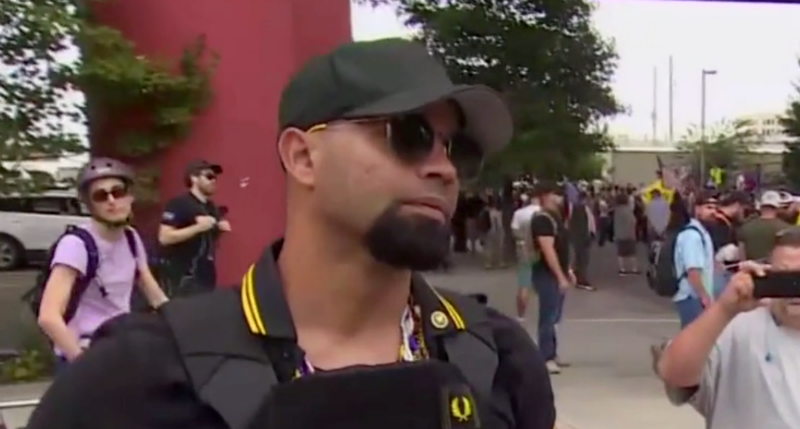 Proud Boys leader says members fight and then lick each other's faces at their 'magical' events