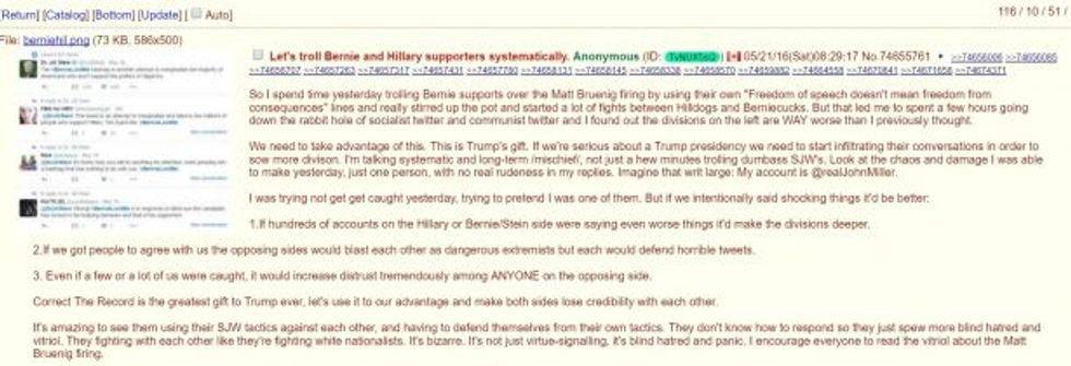 Trump troll on 4chan