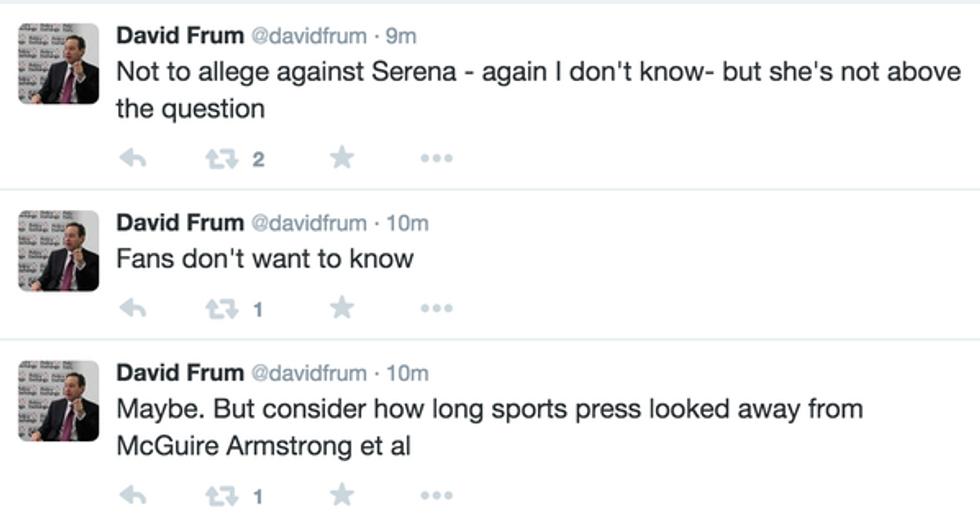 Tweets about Serena Williams by David Frum