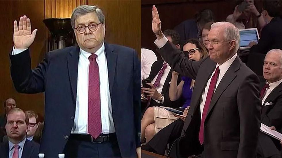 Melania saved Bill Barr's job by telling Trump he was 'right out of central casting' — unlike 'mousy' Sessions